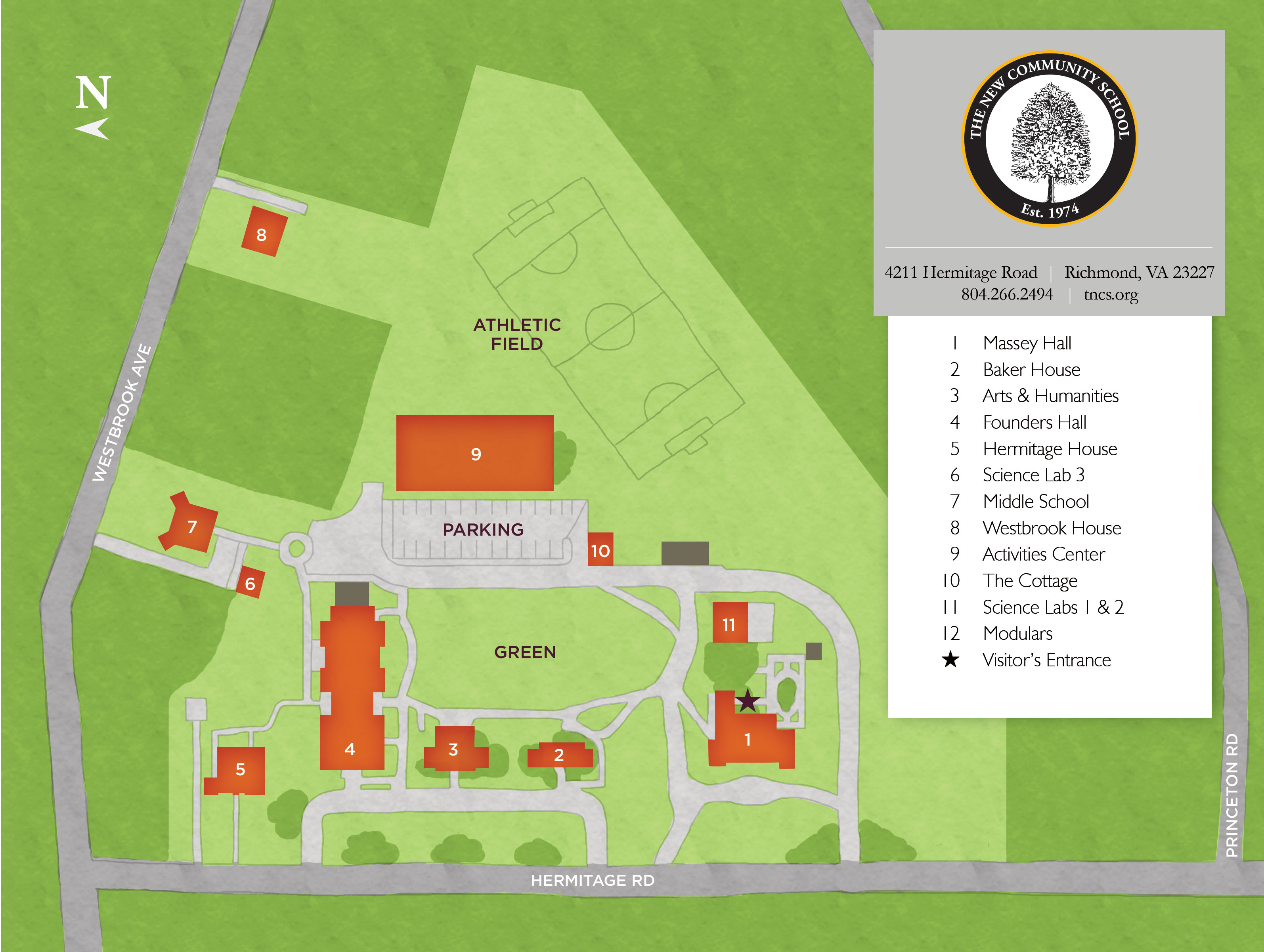 TNCS Campus Map